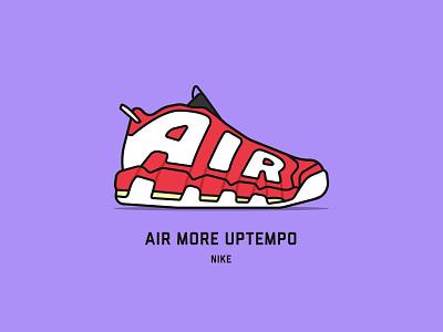 Top 10 NBA Sneakers nike basketball chicago bullls scottie pippen olympics nba illustration vector flat minimal design