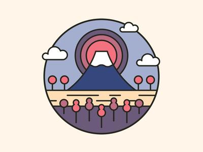 Mt Fuji Badge