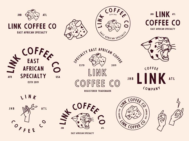 Coffee Branding Exploration coffee hands leopard monogram tattoo vintage lockup lettering marks logo illustration identity hand drawn branding badge art book vector design minimal