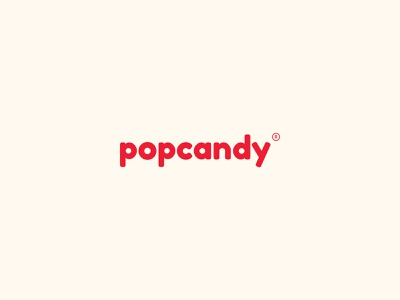 Popcandy fashion kidswear typography simple type simple logo pink red minimal logo illustration identity brand identity icon brand badge