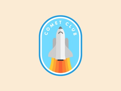 Daily Logo Challenge - 1 minimal vector flat clean illustrator nasa spaceship space shuttle logo illustration dailylogo dailylogochallenge