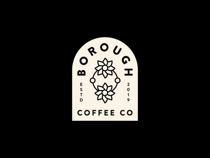 Daily Logo Challenge - 6 patch badge restaurant cafe coffeeshop coffee branding icon minimal design illustration vector illustrator flat clean logo dailylogochallenge