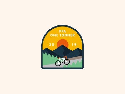 One Tonner Cycle Tour branding identity branding artwork illustration art illustration graphic mountain outdoors identity badge logo patch badge cycling bicycle