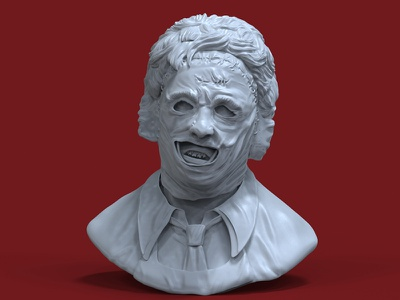 Leatherface Bust Sculpt sculpt bust 3d