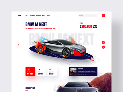 Car - Landing Page 2020 ironsketch concept website business user experience user interface design 3d ux ui landing page bmw automobile car