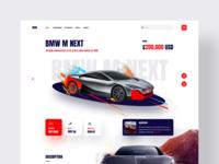 Car - Landing Page 2020 ironsketch concept website business user experience user interface design 3d ux ui landing page bmw automobile car