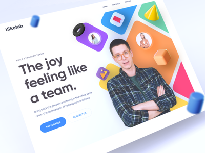 Landing page Concept ux design user interface design product landing page vector ux ironsketch business branding animation isketch 2021 website 3d landing page design