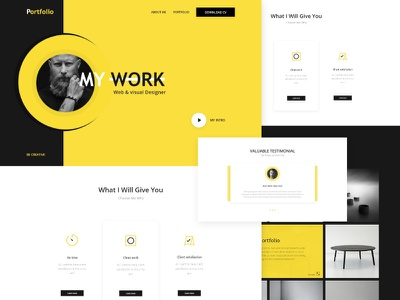 Personal Portfolio template web color ux ui site simple resume portfolio personal modern clean