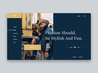 Conceptual Web UI Concept - Fashion