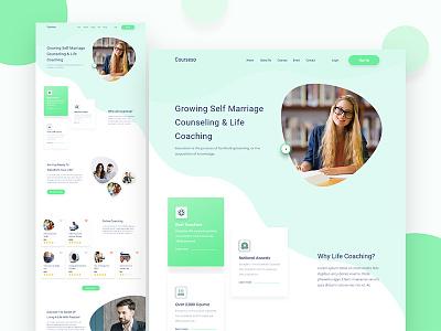 Courseso Counseling & Life Coaching Landing Page lifestyle isomatrix icone website app shape business animation landing page