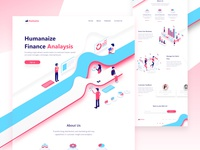 Business Analysis Agency Landing page