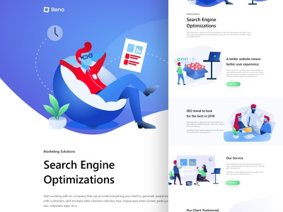 Search Engine Optimization ironsketch business logo ux ui agency typogaphy website landing page gradient color cruve search engine optimizing seo illustration animation