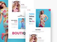 Fashion Landing Page UI