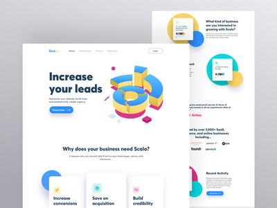 Scelo Landing page orizon marketing typography illustration concept design ux design user interface website landing page ux ui user experience userinterface