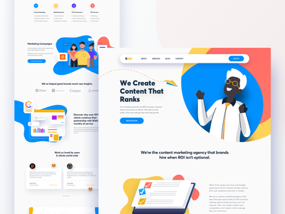 B360 Landing Page contact page contact us landing page agency concept design business uxdesign uidesign illustration 2019 digital marketing agency website concept ux website user experience user interfaces landing page design website design