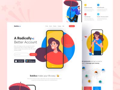 Bakboo Landing Page