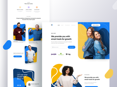 D8 Landing Page uidesign uxui user experience userinterface 2019 theme design theme website design landing page design user interface ironsketch website concept landing page ui