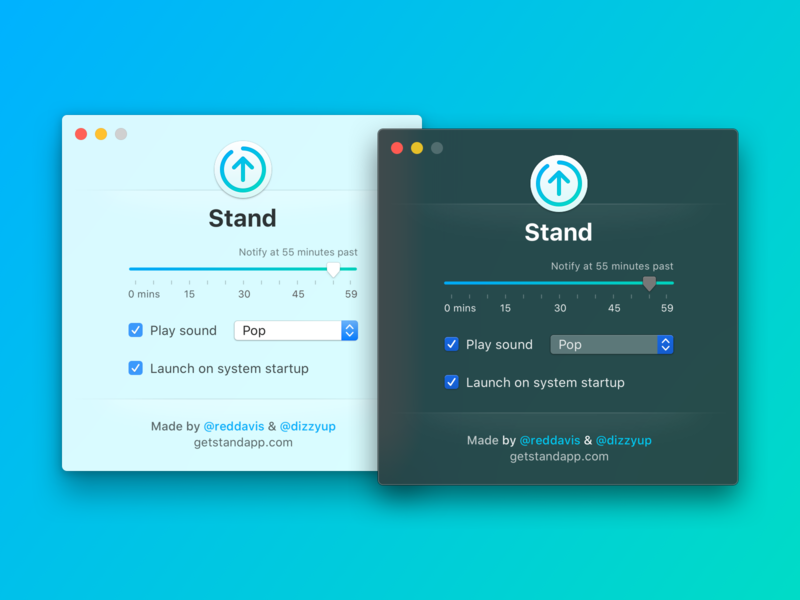 Stand 2 for Mac reminder stand ui mac app