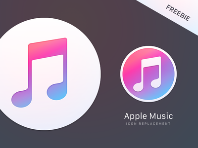 Apple Music Replacement Icons replacement icon mac music apple freebie