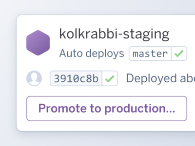 Promote to production.. interface developers code production app pipelines heroku