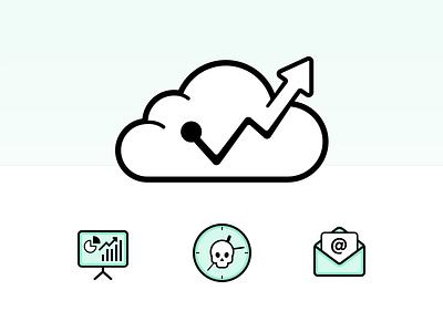Forecast Identity cloud logo identity business finance money forecast
