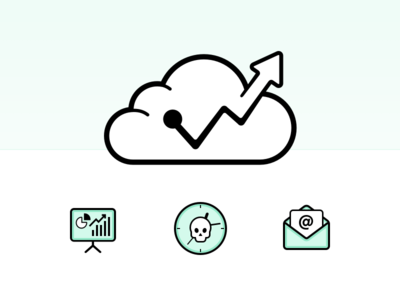 Forecast Identity cloud logo identity business finance money forecast