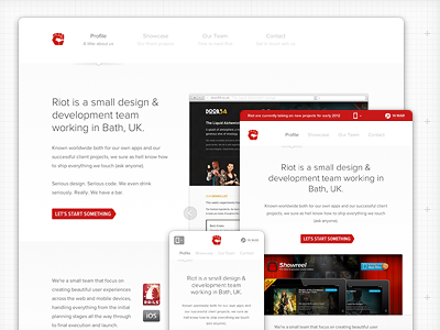 Riot 2.0 redesign refresh website showcase portfolio responsive