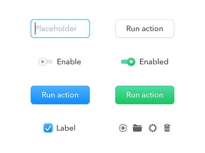 Clearbit Elements glyphs controls buttons ui
