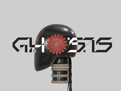 GHOSTS branding logo design 3d modeling 3d typography