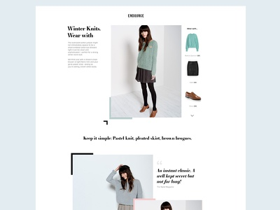 Editorial & Merchandising retail clothing products ui ecommerce fashion