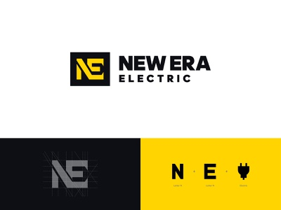 New Era - logo design logo design new era electrical electric electrical logo grid logo logo grid logo designer brand designer brand identity brand identity designer brand identity design branding construction logo logo mark monogram logo monogram lettermark negative space logo identity design