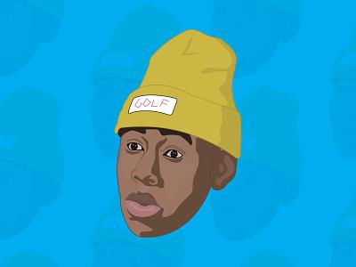 Tyler the Creator Illustration golf rap illustration