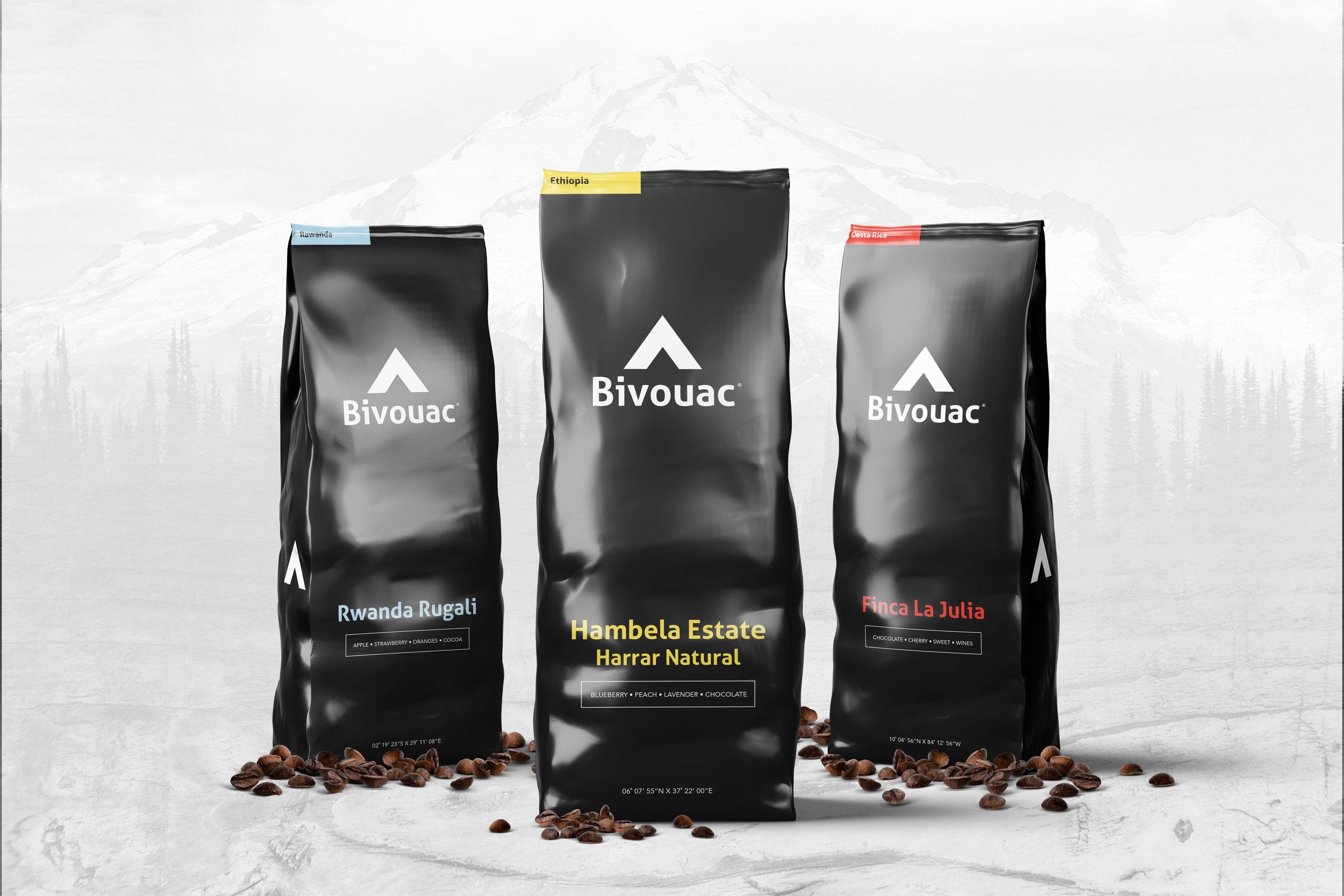 Kaejon Misuraca / Projects / Bivouac Coffee   Dribbble