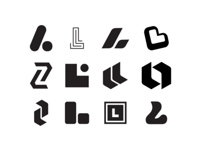 Looka logo mark explorations