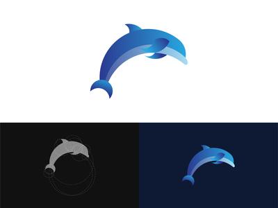 Golden Ratio Dolphin Symbol