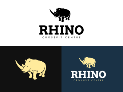 Rhino Crossfit Logo Design