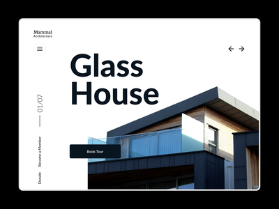 Home page design for architecture firm figma product design ui ux webdesign
