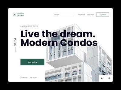 Dribbble Shot   TNH brand design branding real estate design webflow figma ux ui webdesign website