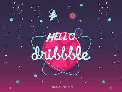 Hello Dribble hello dribble first shot debut ui shot invite