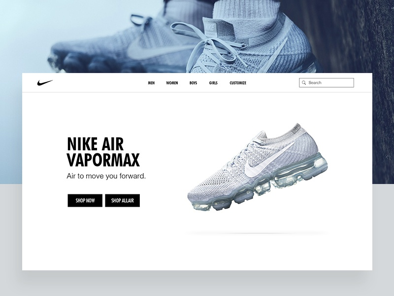 3a017047d4f1 Nike website UI by Kshitij Kumar