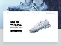 Nike website UI