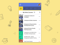 Learning Management System UI/UX -Mobile Responsive List View
