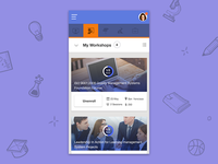 Learning Management System UI/UX -Mobile Responsive Grid View