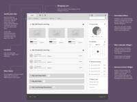 Hi-Fi Wireframe - Enterprise LMS Learner Home Page