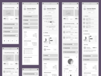 Hi-Fi Wireframe Learner Home Page Mobile screens