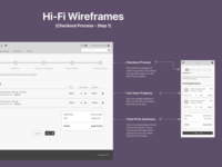 Checkout Process - Hi-Fi Wireframe - Enterprise LMS