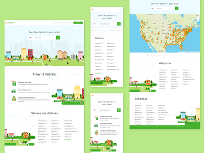 Locations Page illustration icons grocery food instacart locations