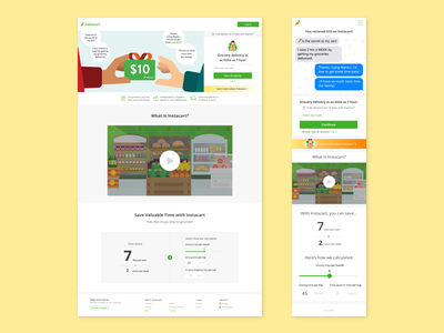 Personalized Referrals refer referral grocery shopping groceries instacart visual design