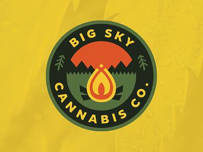 BSCC fire cannabis montana big sky logo
