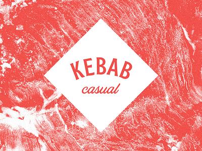 Kebab Casual meat kebab logo branding